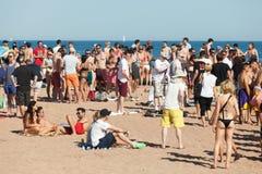 Openluchtpartij op strand Royalty-vrije Stock Foto's