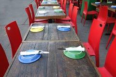 Openluchtrestaurant Royalty-vrije Stock Foto