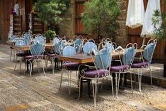 Openluchtrestaurant, Byblos Jbeil, Libanon stock afbeelding