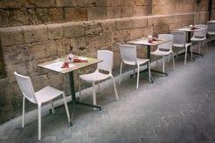 Openluchtrestaurant in de Stoep royalty-vrije stock fotografie
