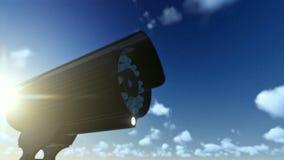 Openluchttoezichtcamera, timelapse wolken stock video
