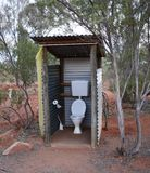 Openluchttoilet in Australisch Bush Royalty-vrije Stock Foto's