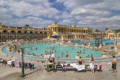 Openluchtzwembaden en baden Stock Fotografie