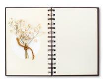 openNotebook komponuje z kwiatem zdjęcia royalty free