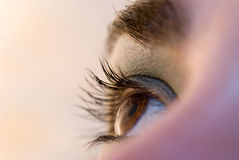 Opens eye Royalty Free Stock Photo