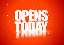 Opens today. Illustration. ai file available Stock Images