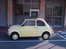 Traditional italian car Fiat 500. Opentop model of italian famous car Fiat 500 royalty free stock photos