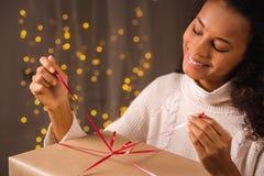 Openvouwend Aanwezige Kerstmis Royalty-vrije Stock Afbeeldingen