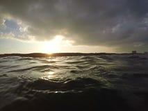 Openwater soluppgång i Tel Aviv royaltyfria bilder
