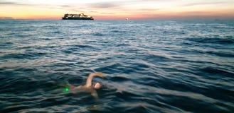 English channel sunrise royalty free stock image