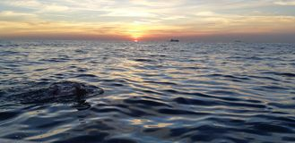 English channel sunrise royalty free stock images