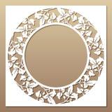 Openwork белая рамка с листьями Стоковые Фотографии RF