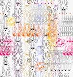 Openwork виньетки безшовная картина Стоковое Изображение RF