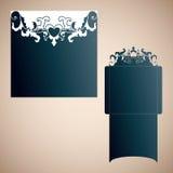 Openwork конверт свадьбы в викторианском стиле Вырезывание лазера Стоковые Фотографии RF