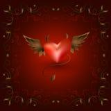 openwork рамка с 2 сердцами Стоковые Фотографии RF