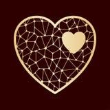 Openwork сердце Шаблон вырезывания лазера Стоковые Изображения RF