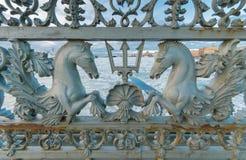 Openwork Annunciation bridge railing Stock Images