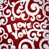 Openwork applique Valentine card Stock Image