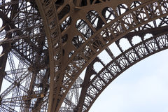 Openwork architecture of Eiffel Tower stock photography