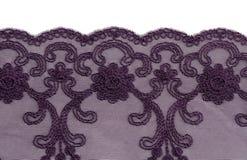 Openwork beautiful purple lace Stock Image