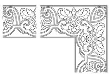 Openwork border vector 001 Stock Photo
