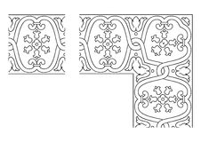 Openwork border vector 002 Royalty Free Stock Photo