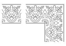 Openwork border vector 003. Vector illustration of openwork border Royalty Free Stock Image
