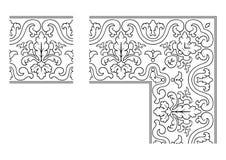 Openwork border vector 004. Vector illustration of openwork border vector illustration