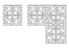Openwork border vector 005 Stock Photos