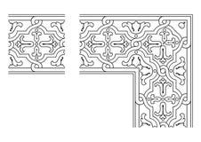 Openwork border vector 005. Vector illustration of openwork border stock illustration