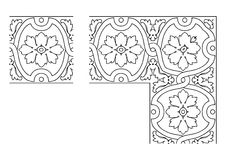 Openwork border vector 006 Royalty Free Stock Images