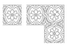 Openwork border vector 006. Vector illustration of openwork border stock illustration