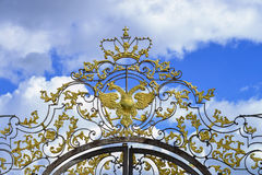 Openwork bramy Catherine pałac Zdjęcia Royalty Free