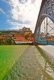 Openwork  Bridge. Cityscape with the Openwork  Bridge Built by Eiffel in Porto Royalty Free Stock Photography