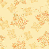 Openwork butterfly seamless pattern Royalty Free Stock Photos