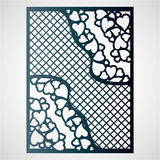 Openwork card with hearts.Openwork card with hearts. Laser cutting template. Royalty Free Stock Images
