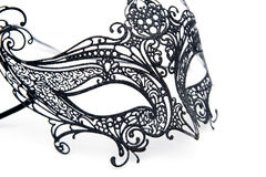 Openwork carnival mask on a white background royalty free stock photos