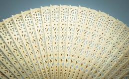 Openwork Chinese houten ventilator Royalty-vrije Stock Foto's
