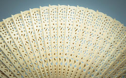 Openwork Chinese wooden fan Royalty Free Stock Photos