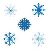 Openwork Christmas snowflakes in vector format Royalty Free Stock Photography