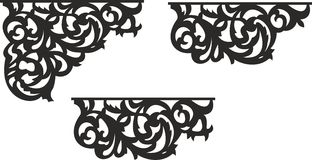 Openwork corner and border 00001 Royalty Free Stock Images