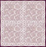 Openwork cream-coloured serviette with grunge swirled pattern Royalty Free Stock Images