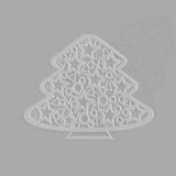 Openwork Dekoration Weihnachtsbaum stock abbildung