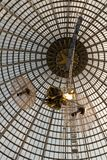 Openwork design of a dome made of glass and metal. royalty free stock photo