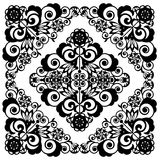Openwork floral decorative lace pattern Stock Image