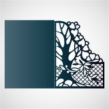 Openwork frame with tree and hearts. Royalty Free Stock Photo