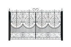 Openwork gate. Stock Photography