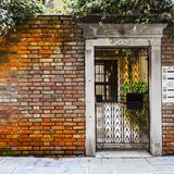 Openwork gate in Venice Royalty Free Stock Image