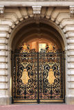 Openwork gates of the Buckingham Palace in London Stock Photo