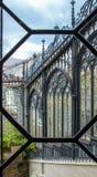 Openwork glass fence of Hluboka nad Vltavou castle. Czech Republic stock photography